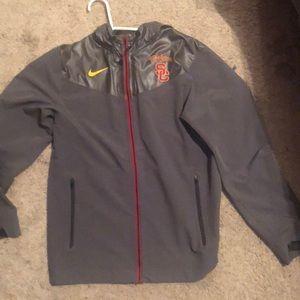 USC thermal zip up hoodie